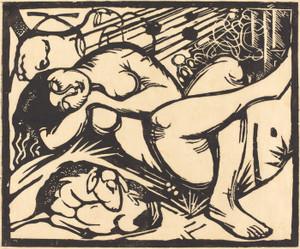 Art Prints of Sleeping Shepherdess by Franz Marc