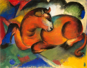 Art Prints of The Red Bull by Franz Marc