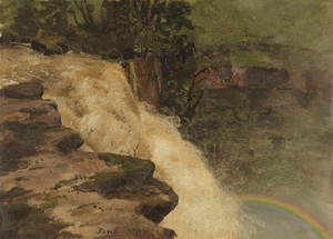 Art Prints of A Waterfall in Columbia by Frederic Edwin Church