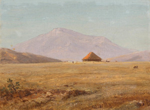 Art Prints of Mountain Plateau with Hut by Frederic Edwin Church