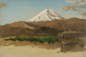 Art Prints of Study of Mount Chimborazo, Ecuador by Frederic Edwin Church