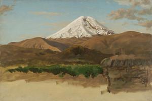 Art Prints of Study of Mount Chimborazo, Ecuador by Frederic Edwin Church