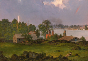 Art Prints of View of Blackwell's Island, New York by Frederic Edwin Church