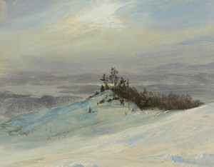 Art Prints of Winter on the Hudson near Catskill New York by Frederic Edwin Church