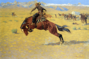 Art Prints of A Cold Morning on the Range, 1904 by Frederic Remington