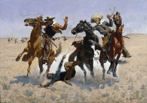 Art Prints of Aiding a Comrade by Frederic Remington