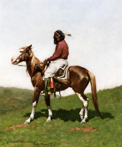 Art Prints of Comanche Brave, Fort Reno Indian Territory by Frederic Remington