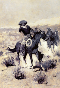 Art Prints of Days on the Range, Hands Up by Frederic Remington