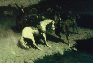 Art Prints of Fired On by Frederic Remington