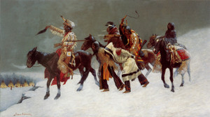 Art Prints of Return of a Blackfoot War Party by Frederic Remington
