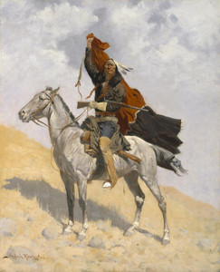 Art Prints of The Blanket Signal by Frederic Remington