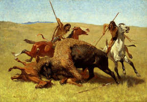Art Prints of The Buffalo Hunt by Frederic Remington