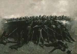 Art Prints of The Infantry Square by Frederic Remington