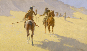 Art Prints of The Parley by Frederic Remington