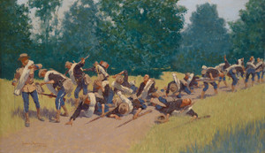 Art Prints of The Scream of Shrapnel at San Juan Hill by Frederic Remington