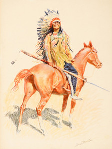 Art Prints of A Sioux Chief II by Frederic Remington