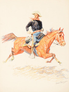 Art Prints of Cavalry Officer by Frederic Remington