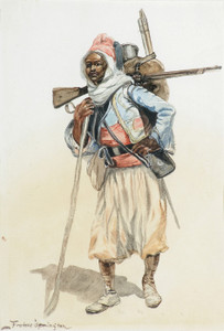 Art Prints of French Algerian Zouave by Frederic Remington