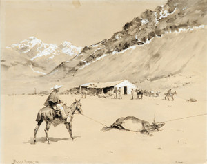 Art Prints of Santa Del Inca Roping Cattle at Punta Negra by Frederic Remington