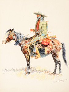 Art Prints of Solid and Dreamy Old Trapper by Frederic Remington