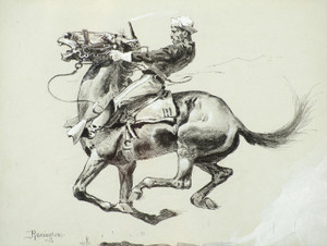 Art Prints of Ugly, 1890, by Frederic Remington