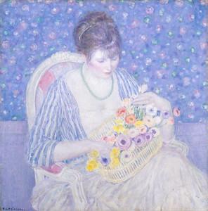 Art Prints of The Basket of Flowers by Frederick Carl Frieseke