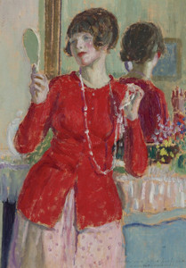 Art Prints of Woman with Mirror by Frederick Carl Frieseke