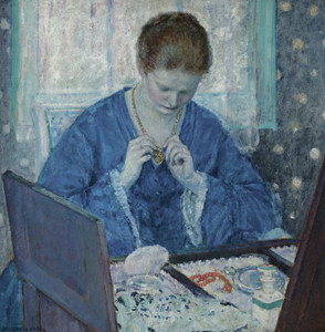 Art Prints of The Gold Locket by Frederick Carl Frieseke
