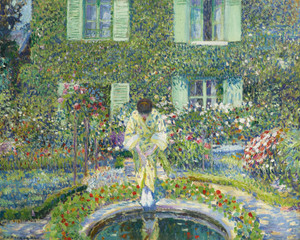 Art Prints of The Garden Pool by Frederick Carl Frieseke