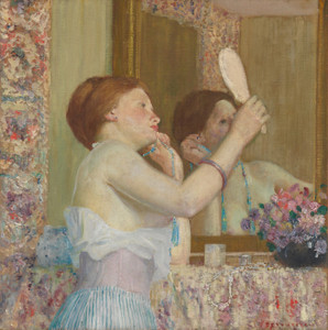 Art Prints of Woman with a Mirror by Frederick Carl Frieseke