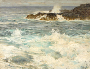 Art Prints of Coastal Scene by Frederick Judd Waugh
