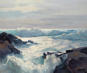 Art Prints of Curling Waves by Frederick Judd Waugh