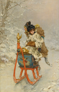 Art Prints of The Sleigh Ride by Frederik Hendrik Kaemmerer