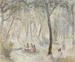 Art Prints of The Picnic by Fremont Ellis