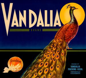 Art Prints of 007 Vandalla Brand, Fruit Crate Labels