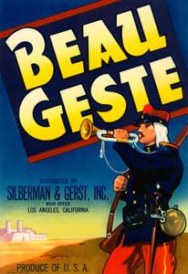 Art Prints of 019 Beau Geste Brand, Fruit Crate Labels