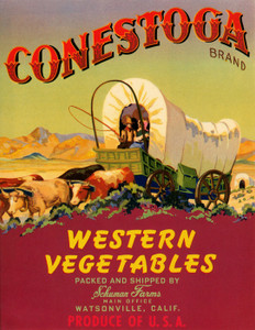 Art Prints of 031 Conestoga Vegetables, Fruit Crate Labels