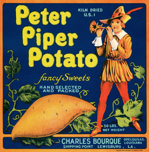 Art Prints of 057 Peter Piper Potato, Fruit Crate Labels