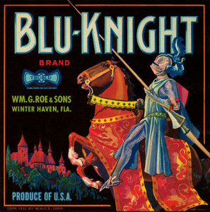 Art Prints of |Art Prints of 058 Blu-Knight Brand, Fruit Crate Labels