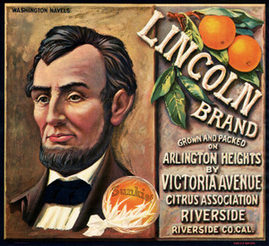 Art Prints of |Art Prints of 066 Lincoln Brand, Fruit Crate Labels