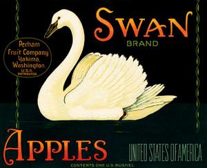 Art Prints of |Art Prints of 077 Swan Apples, Fruit Crate Labels
