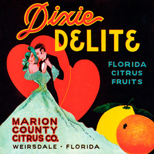 Art Prints of |Art Prints of 097 Dixie Delite Florida Citrus Fruit, Fruit Crate Labels