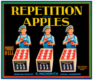 Art Prints of |Art Prints of 095 Repetition Apples, Fruit Crate Labels