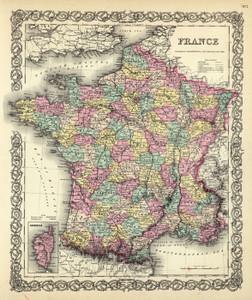 Art Prints of |Art Prints of France, 1856 (0149074) by G.W. Colton