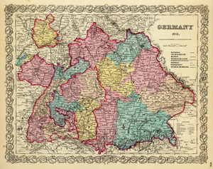 Art Prints of  Art Prints of Germany, No. 3, 1856 (0149081) by G.W. Colton