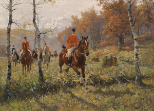 Art Prints of Foxhunting by Georg Carl Koch