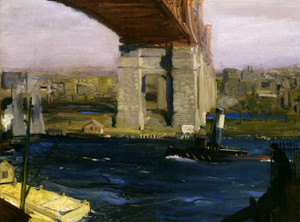 Art Prints of |Art Prints of Bridge, Blackwells Island 1909 by George Bellows