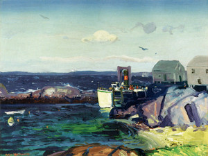 Art Prints of |Art Prints of Boat Landing by George Bellows