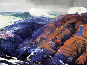 Art Prints of Summer Surf by George Bellows