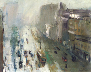 Art Prints of Upper Broadway by George Bellows